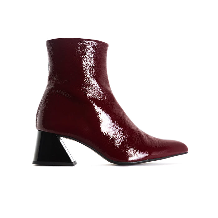 Salonika Bordo Naplack Ankle Boots