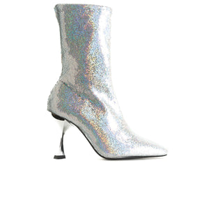 Sar Silver Stretch Ankle Boots