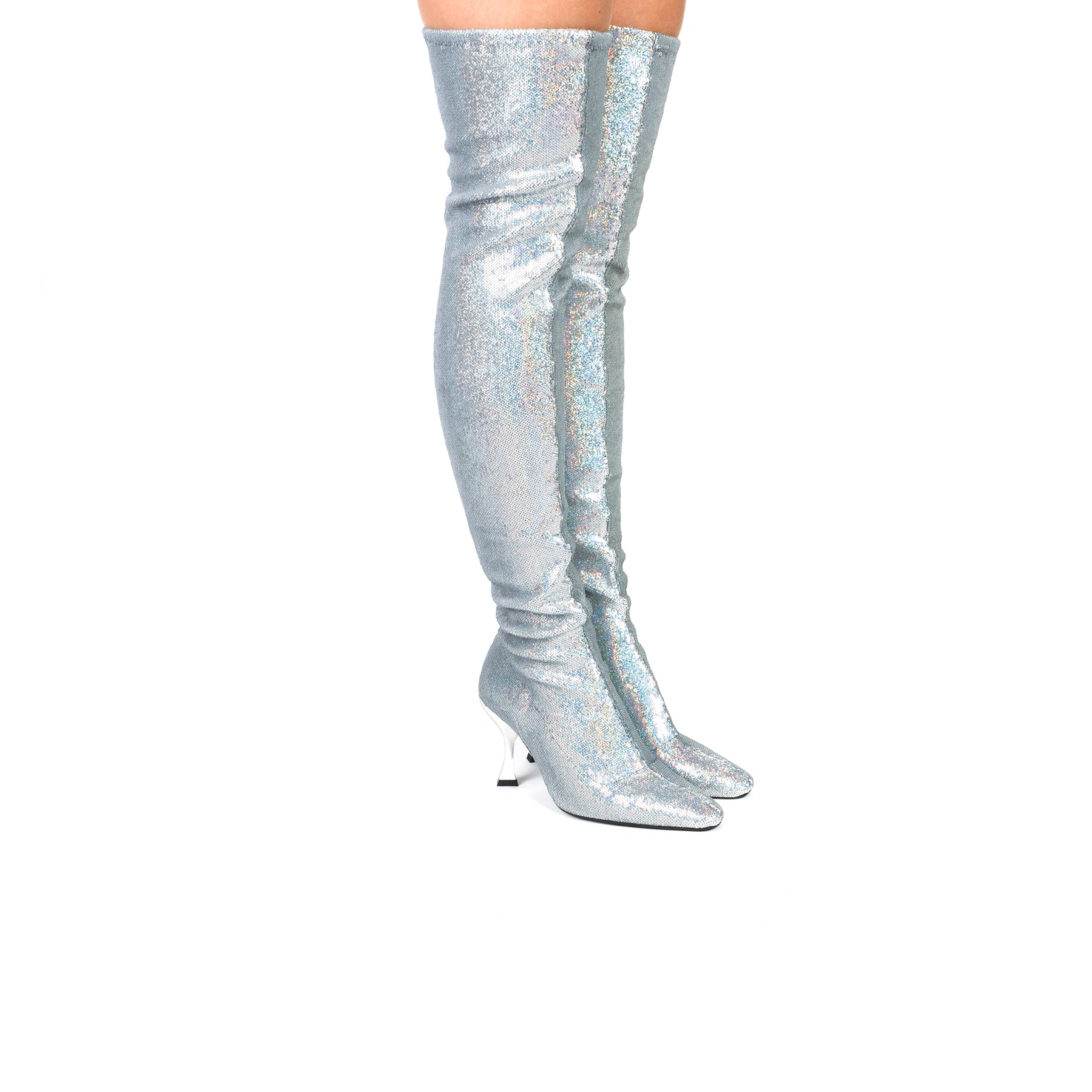 Sartina Silver Stretch Boots