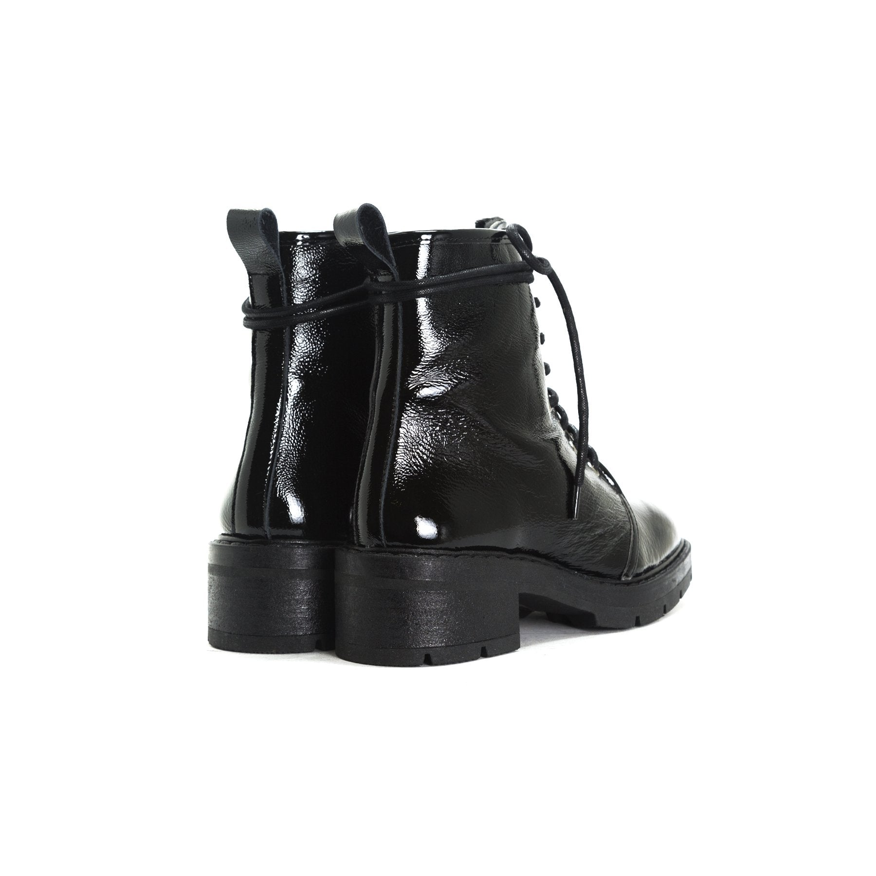 Sibble Black Naplack Ankle Boots