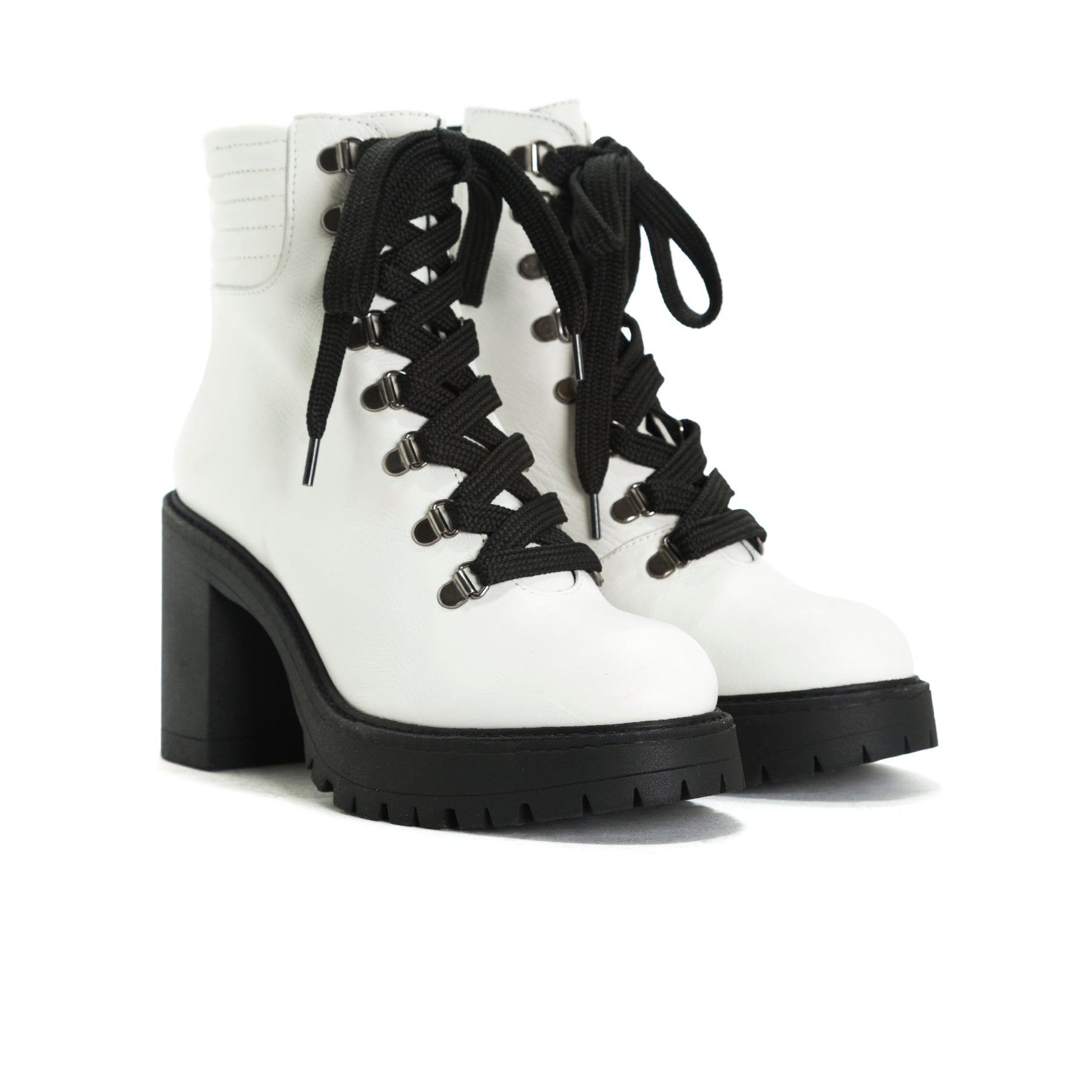 Sickla White Leather Platforms