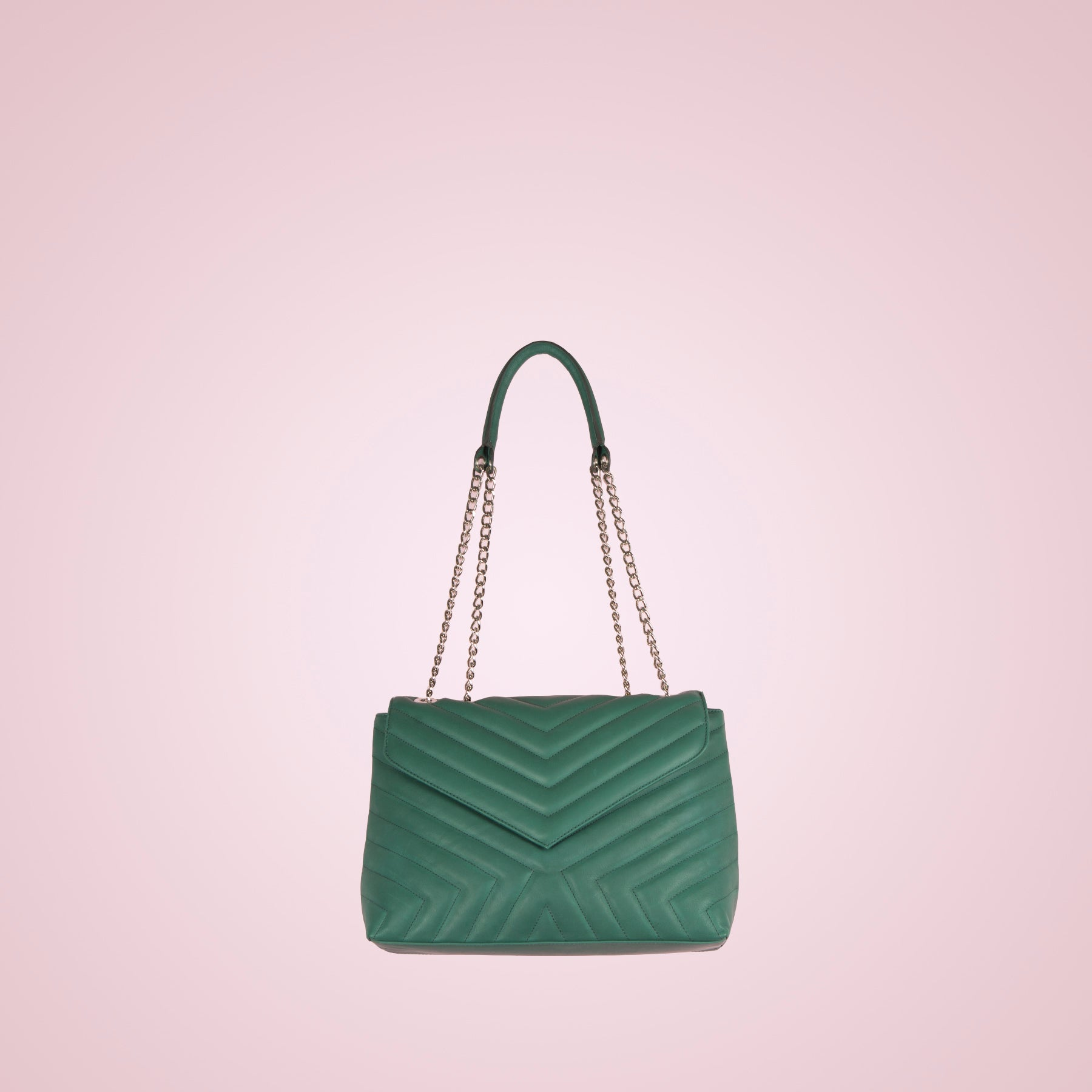 Melpo Forest Green Leather