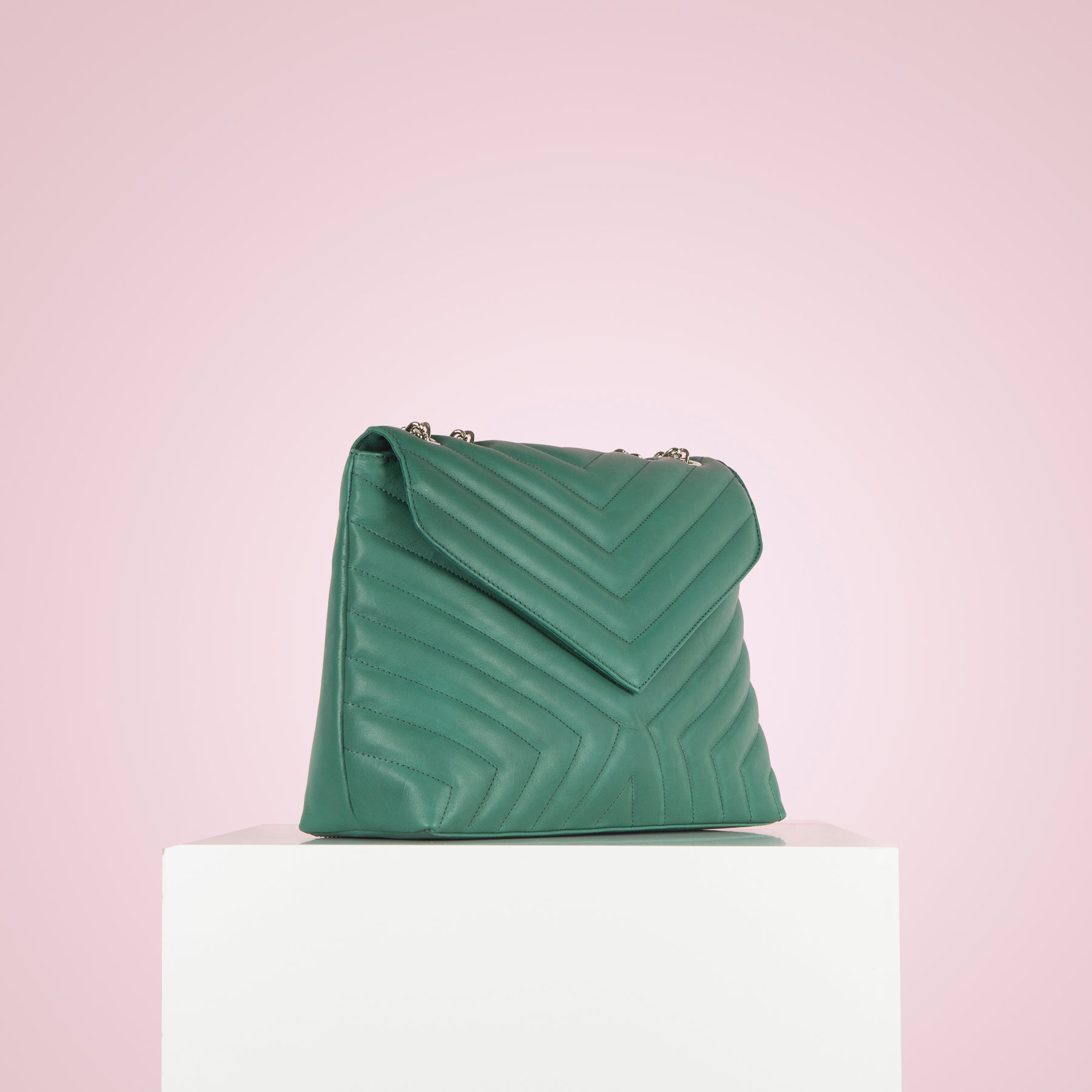 Melpo Green Leather
