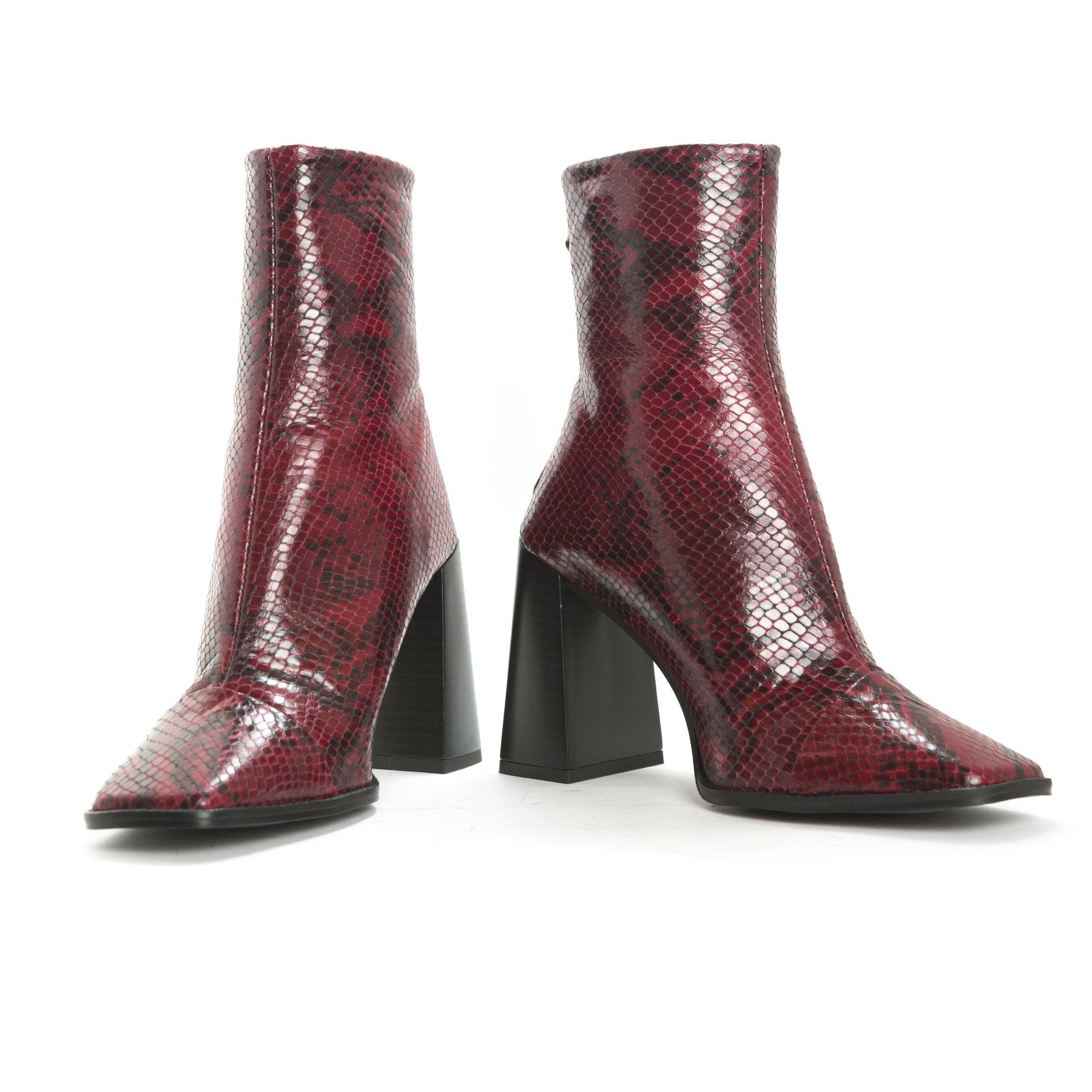 Sorrento Red Snake Leather