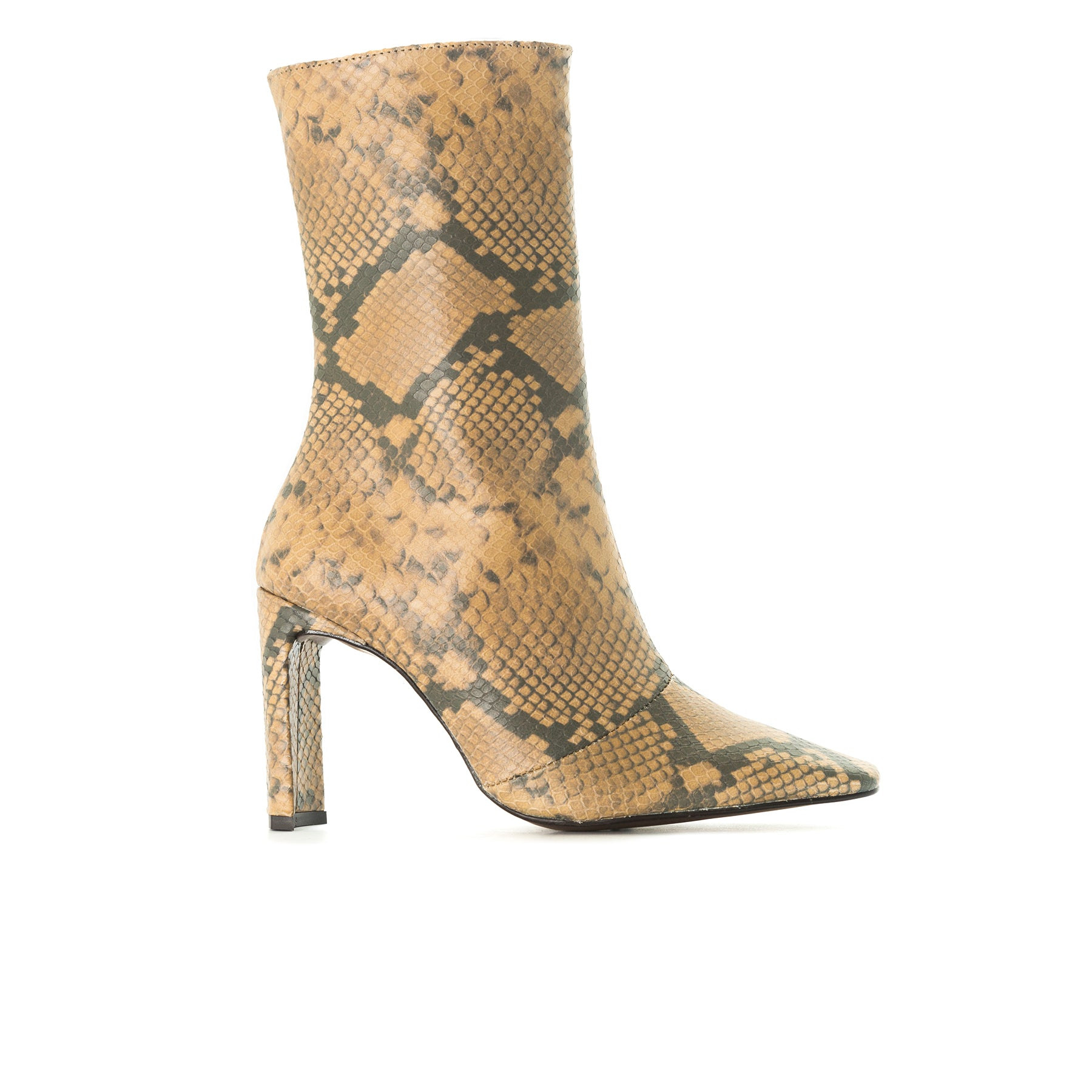 Stavi Nude Snake Ankle Boots