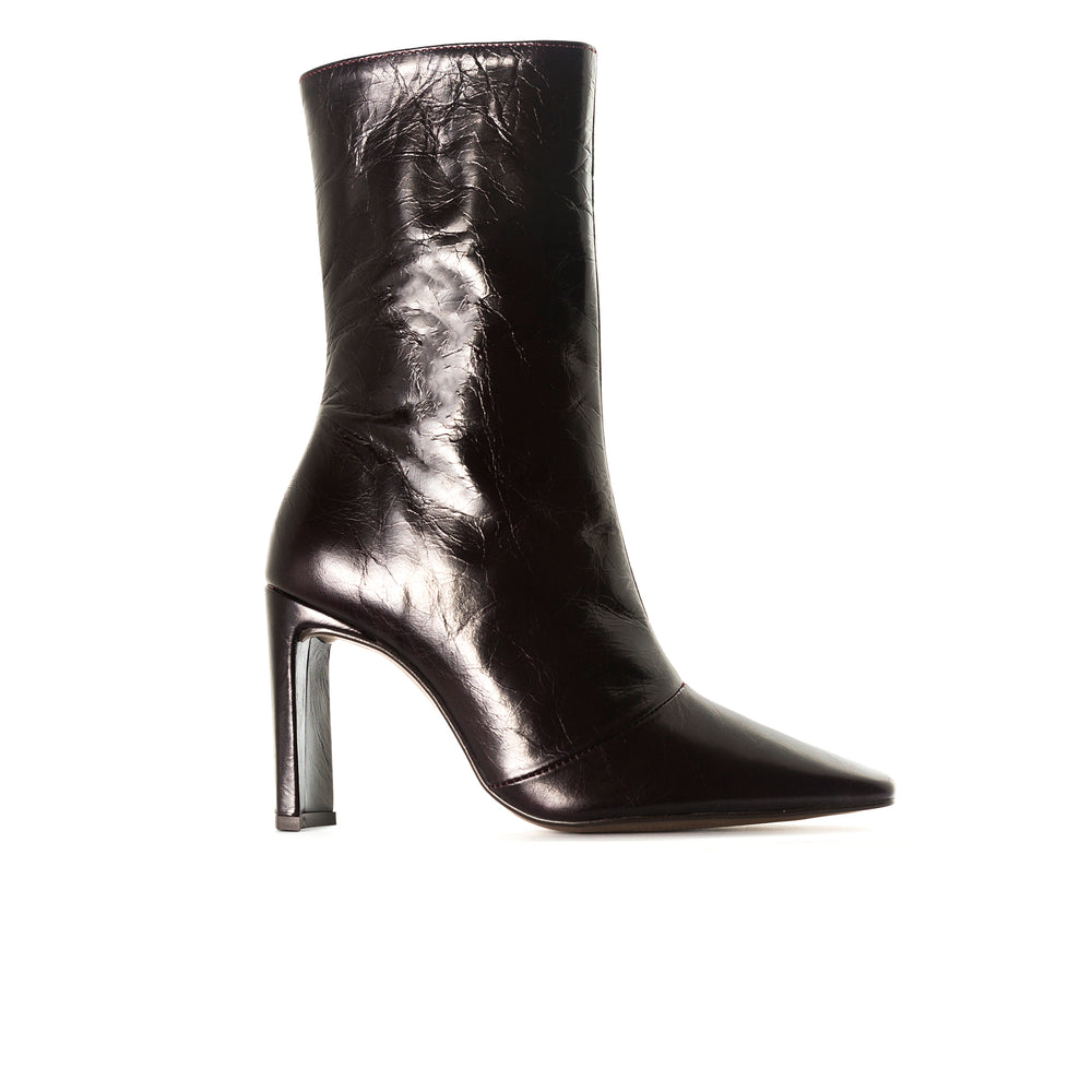 Stavi Bordo Leather Ankle Boots