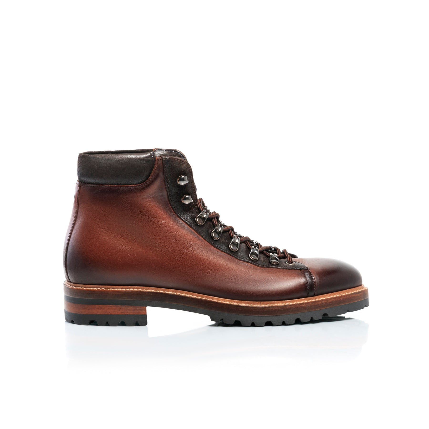 Stef Brown Leather Boots