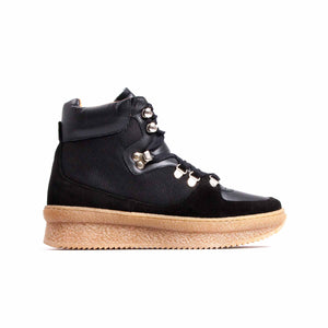 Paden Black Leather & Suede