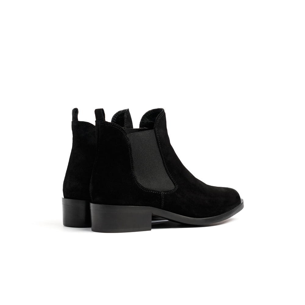 Load image into Gallery viewer, Teesha Black Suede Boots
