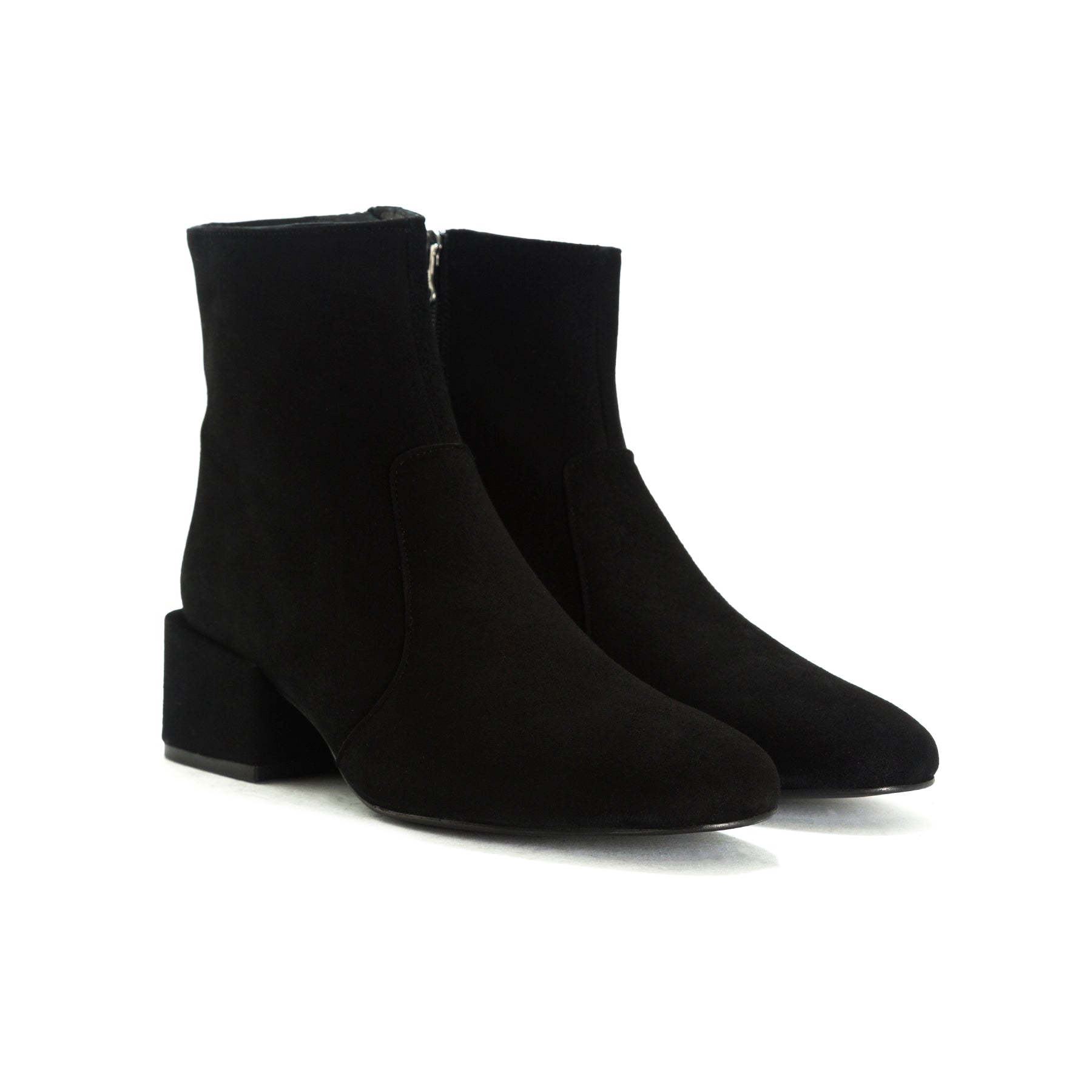 Thassos Black Suede Ankle Boots