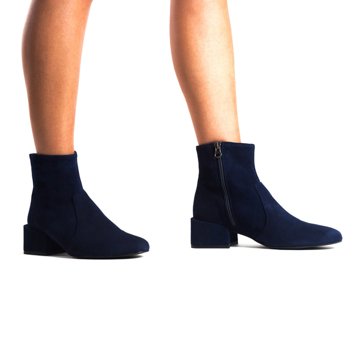 Thassos Navy Suede Ankle Boots