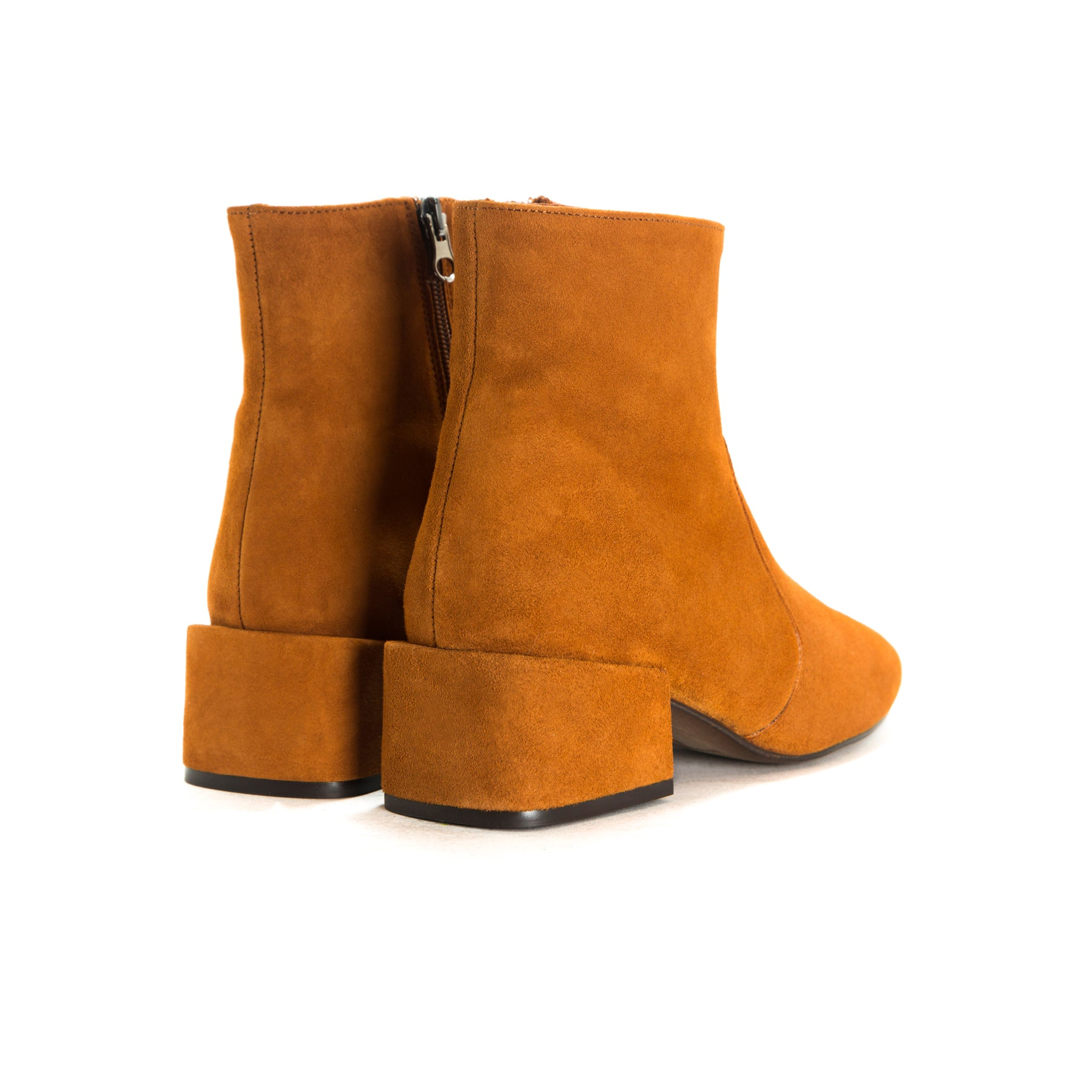 Thassos Tan Suede Ankle Boots