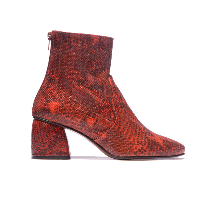 Modesto Red Snake Leather