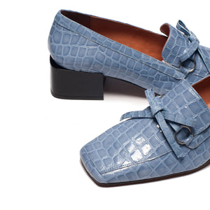 Honor Blue Croco Leather