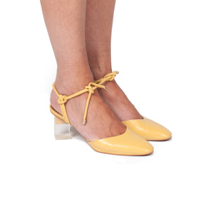 Leta Yellow Leather