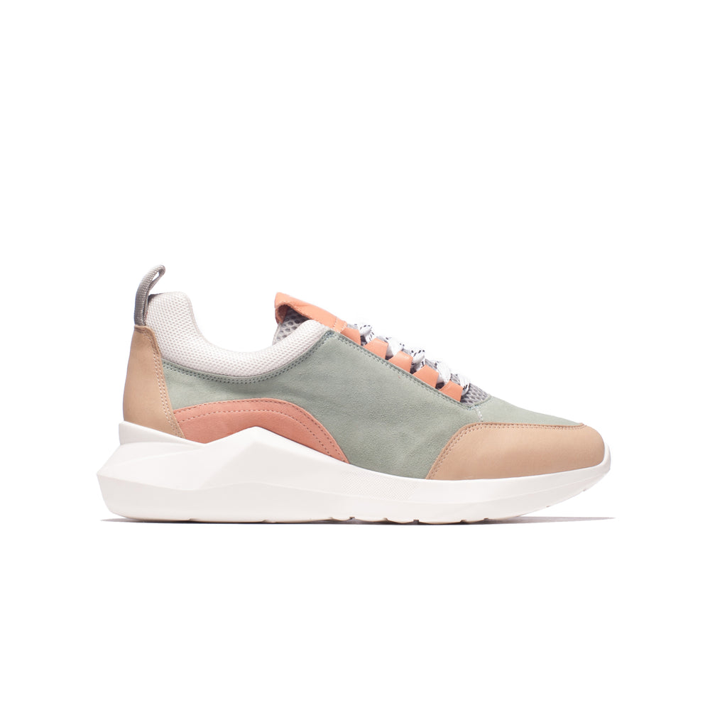 Load image into Gallery viewer, Zadie Blue/Rose/Beige Suede