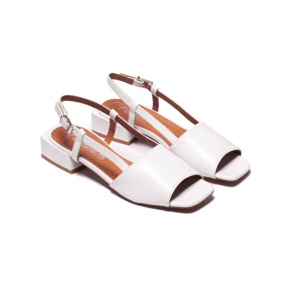 Marilla White Leather