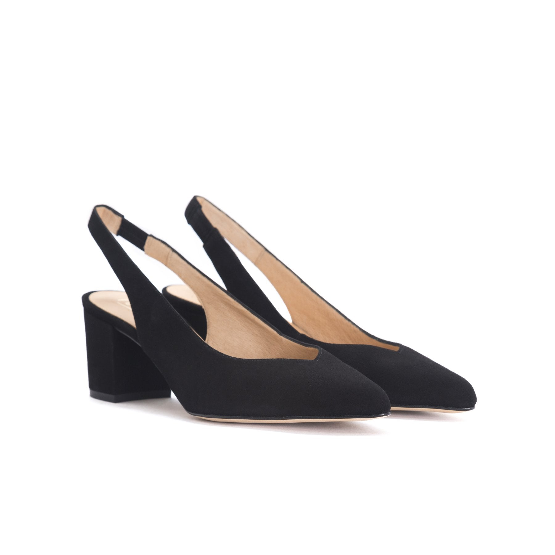 Vereda Black Suede Pumps