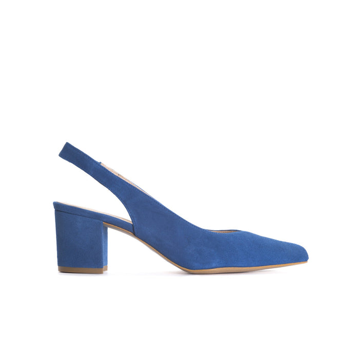 Vereda Blue Suede Pumps