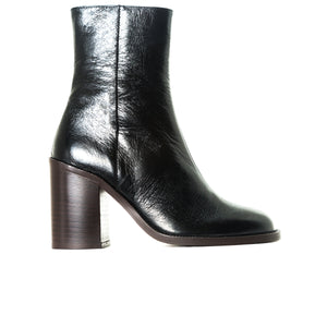 Waco Black Leather Ankle Boots