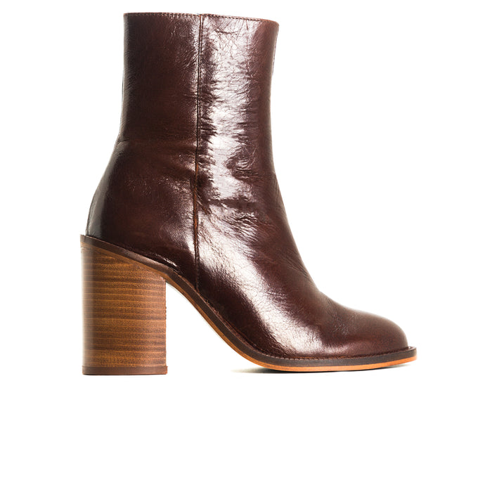 Waco Brown Leather Ankle Boots