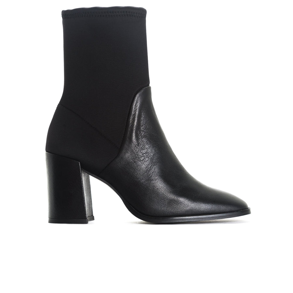 Load image into Gallery viewer, Zadar Black Leather/Neoprene Ankle Boots