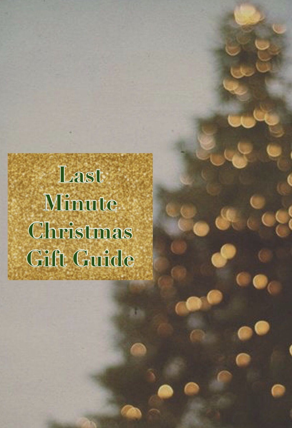 Last Minute Christmas Gifts Guide