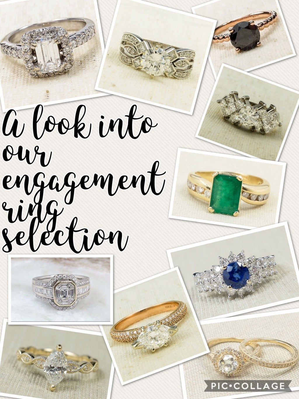 """Tis the season to say YES … a look into our engagement ring selection"""