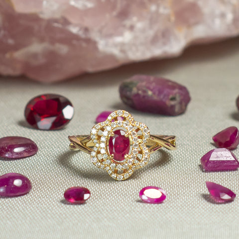 Ruby Ring With Loose Rubies