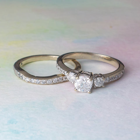Engagement Ring and Bridal Set For Sale