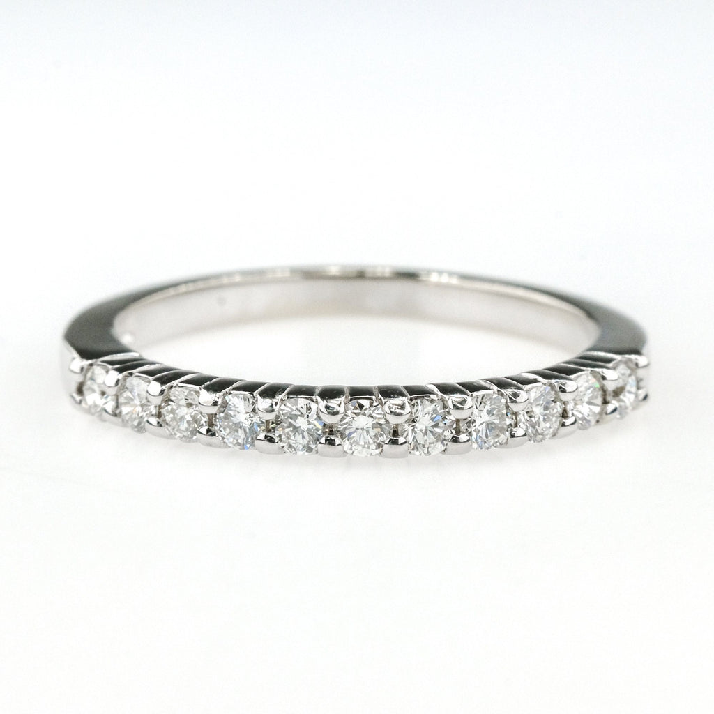 0.33ctw Round Diamond Accent Wedding Band Ring Size 6.75 14K White Gold Wedding Rings Oaks Jewelry