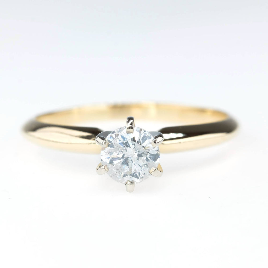 0.40ct Round Diamond Solitaire Engagement Ring in 14K Yellow Gold Engagement Rings Oaks Jewelry