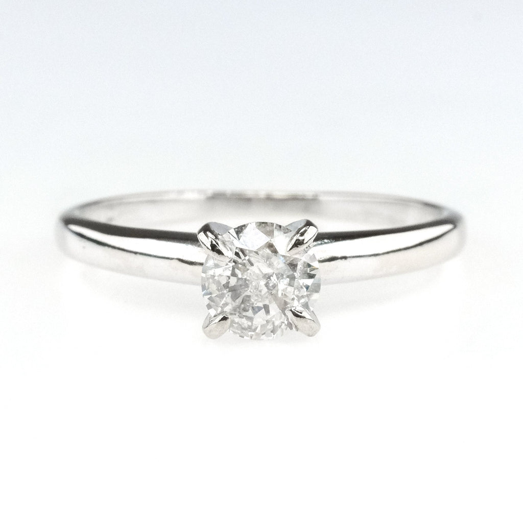 0.46ct Round Diamond Solitaire Engagement Ring in 14K White Gold Engagement Rings Oaks Jewelry