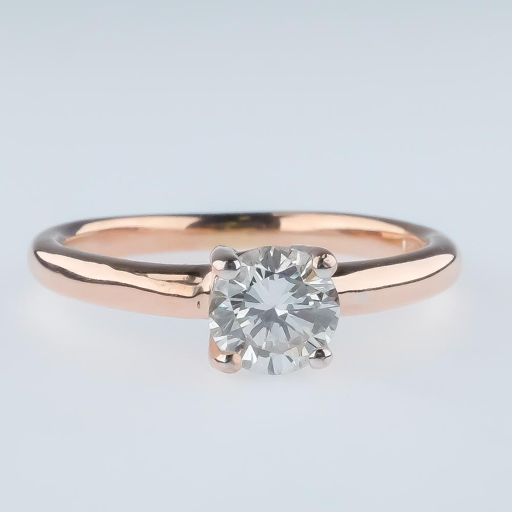 0.47ct SI2/I Round Diamond Solitaire Engagement Ring Size 5.25 in 14K Rose Gold Engagement Rings Oaks Jewelry
