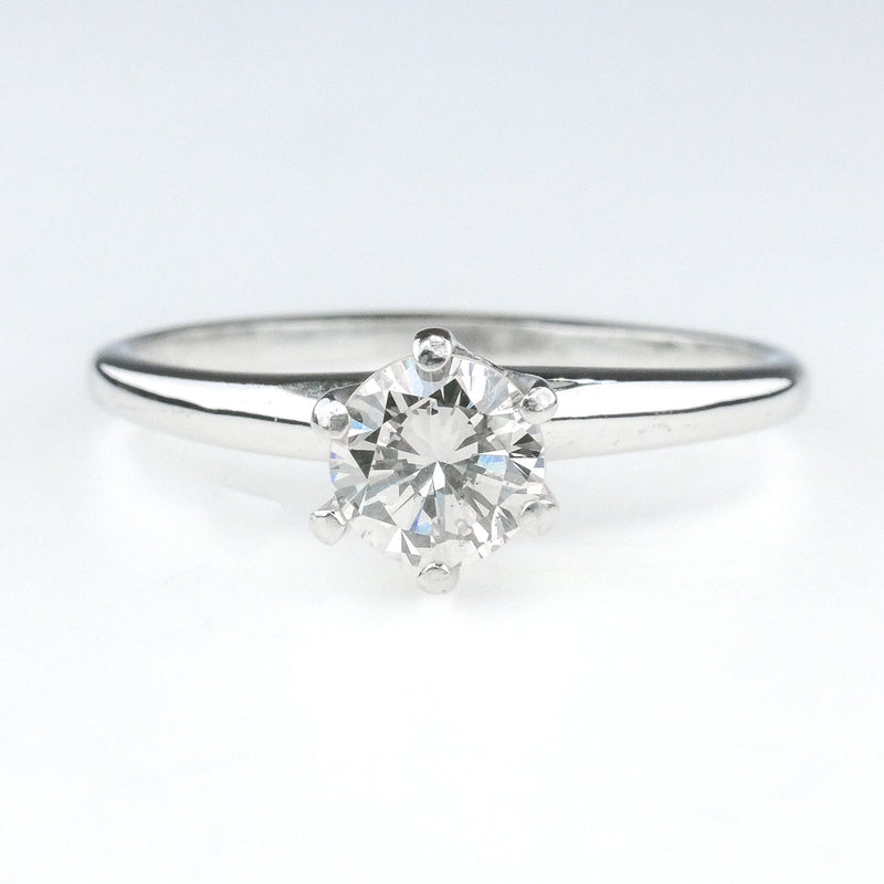 0.50ct Round Diamond SI1/I Solitaire Engagement Ring Size 7.5 in 14K White Gold Engagement Rings Oaks Jewelry