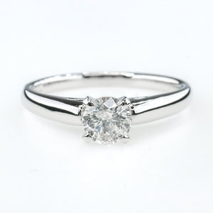 0.51ct SI1/H Round Diamond Solitaire Engagement Ring Size 7 in 14K White Gold Engagement Rings Oaks Jewelry
