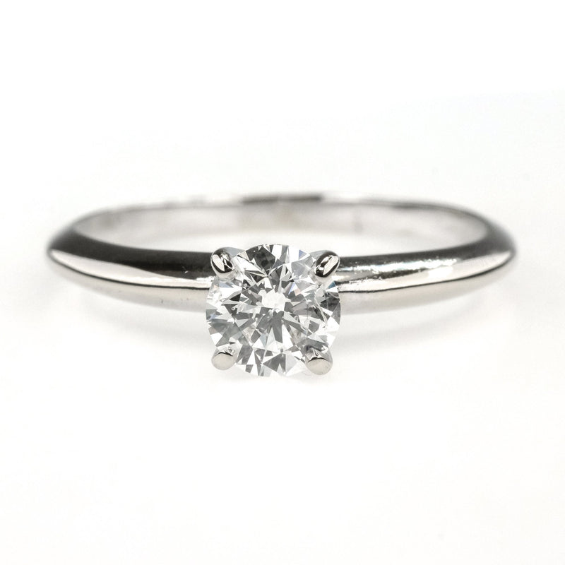0.65ct Round Diamond Solitaire Engagement Ring in 14K White Gold Engagement Rings Oaks Jewelry