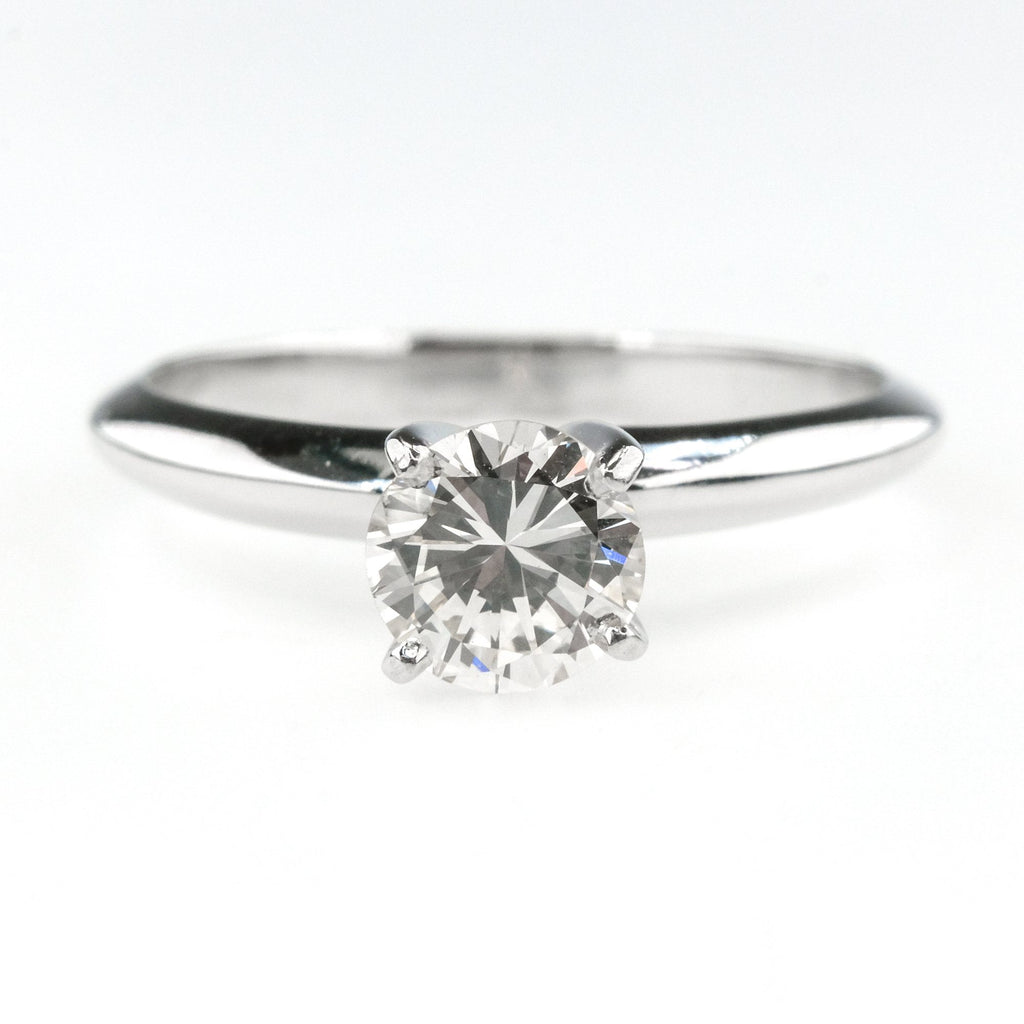 0.65ct SI1/H Round Diamond Solitaire Engagement Ring Size 5.25 in 14K White Gold Engagement Rings Oaks Jewelry