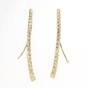 0.67ctw Diamond Graduating Drop Hook Earrings in 18K Yellow Gold Earrings Oaks Jewelry