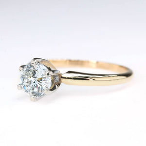 0.75ct Round Diamond Solitaire Engagement Ring in 14K Yellow Gold Engagement Rings Oaks Jewelry