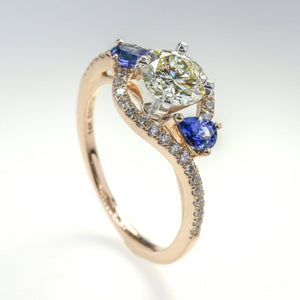 0.77ct EGL VS1/K Round Diamond w/ Accents Engagement Ring 14K Rose Gold Engagement Rings Gabriel & Co.