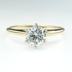 0.80ct I1/H Round Diamond Solitaire Engagement Ring in 14K Yellow Gold Engagement Rings Oaks Jewelry