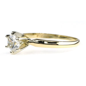 0.85ct Round Diamond Solitaire Engagement Ring in 14K Yellow Gold Size 10.25 Engagement Rings Oaks Jewelry