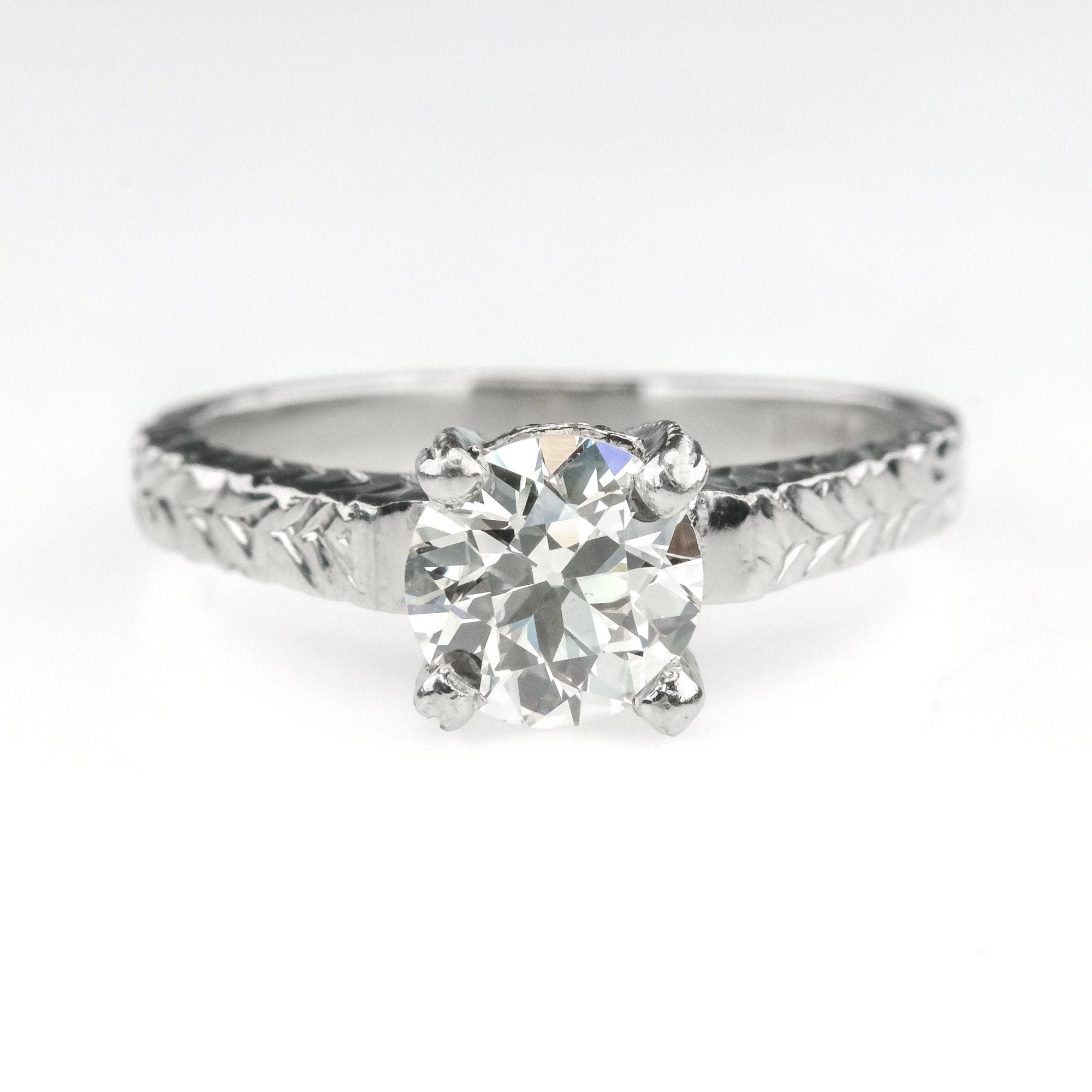 Wave Engagement Ring 1.03 CTW CZ Solitaire Stainless Steel Clearance 5 6 7 8 10