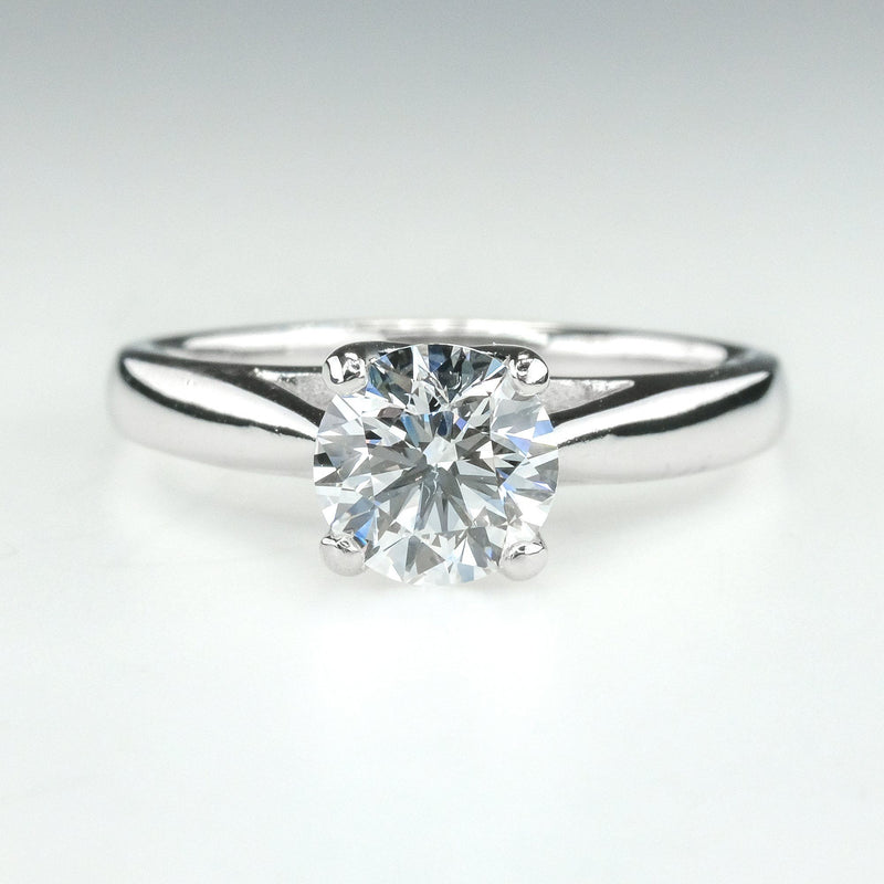 1.00ct Certified Round Cut Diamond Solitaire Engagement Ring in 14K White Gold Engagement Rings Oaks Jewelry