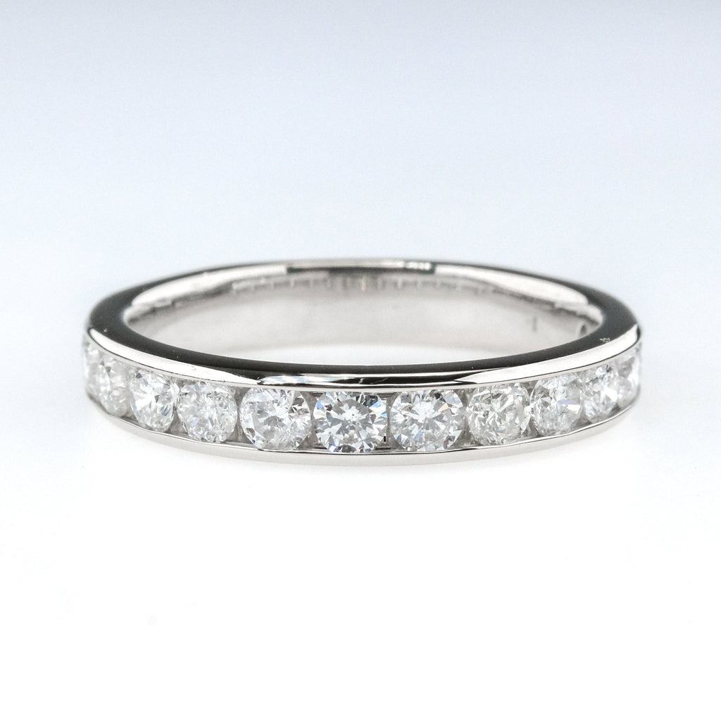 1.00ctw SI2-I1/I Round Diamond Accented Wedding Band Ring in 14K White Gold Wedding Rings Oaks Jewelry