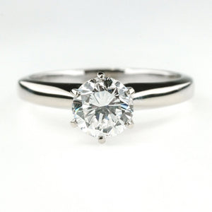 1.04ct GIA VVS1/E Round Diamond Solitaire Engagement Ring in 14K White Gold Engagement Rings Oaks Jewelry