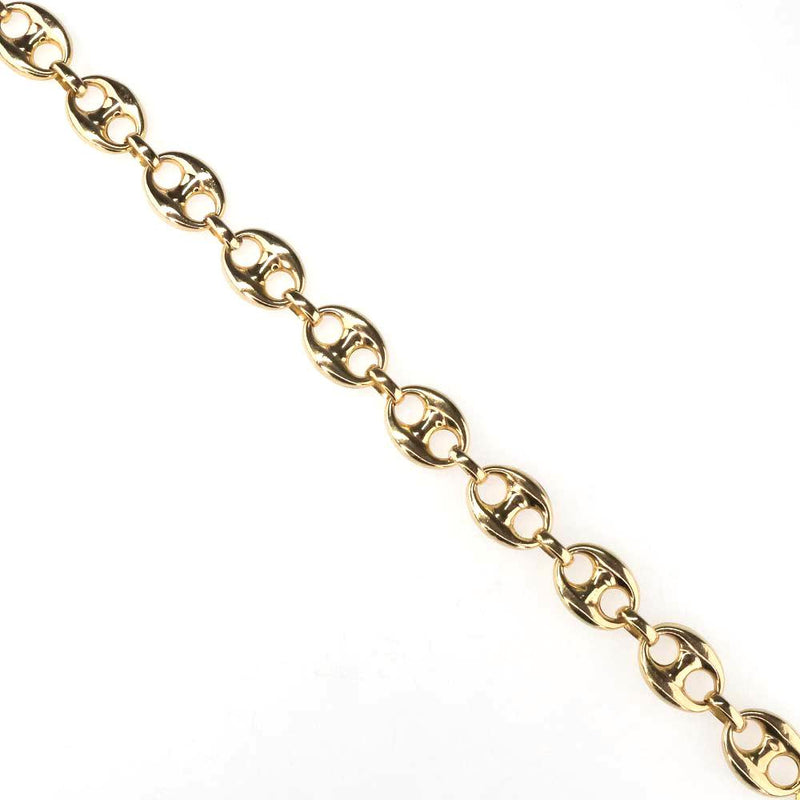 "11mm Wide Puffed Gucci Mariner Link Bracelet in 14K Yellow Gold - 8.75"" Bracelets Oaks Jewelry"