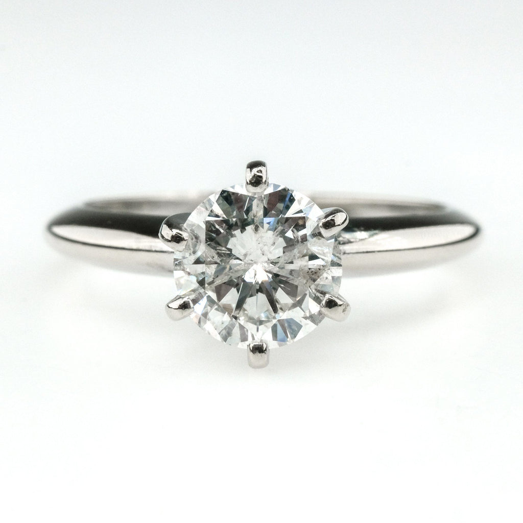 1.25ct Round Diamond Solitaire Engagement Ring 14K White Gold Engagement Rings Oaks Jewelry