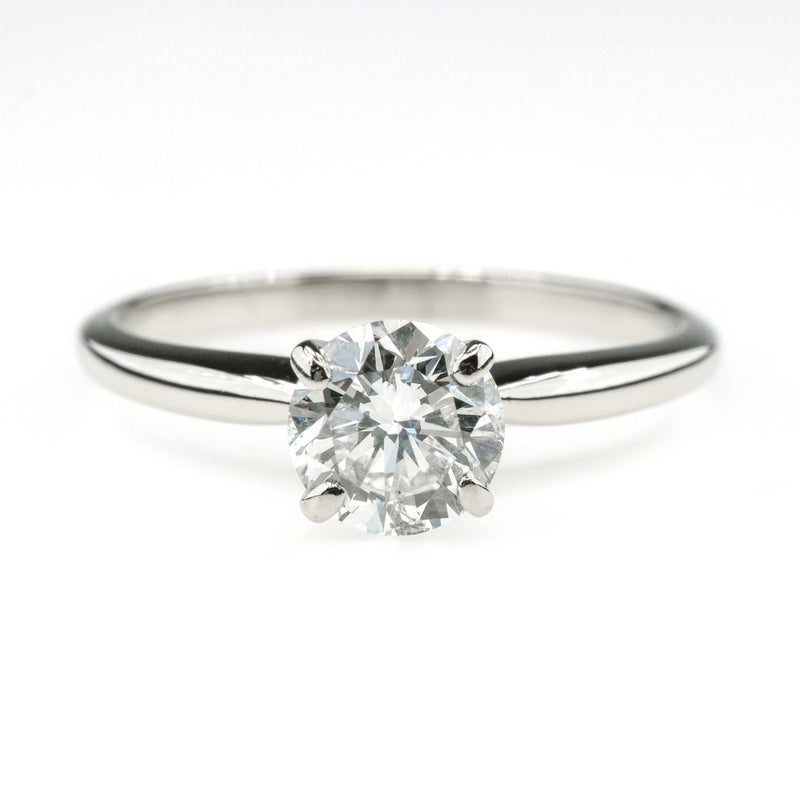 14K White Gold 0.75ct I1/H Diamond Round Solitaire Engagement Ring Engagement Rings Oaks Jewelry